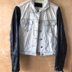 Denim/leather jacket